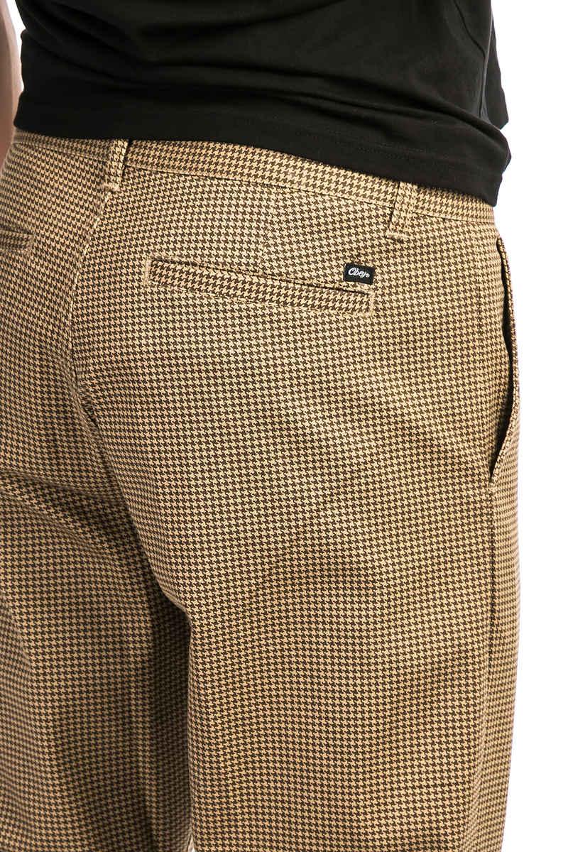 Obey Straggler Houndstooth Pantalons (khaki multi)