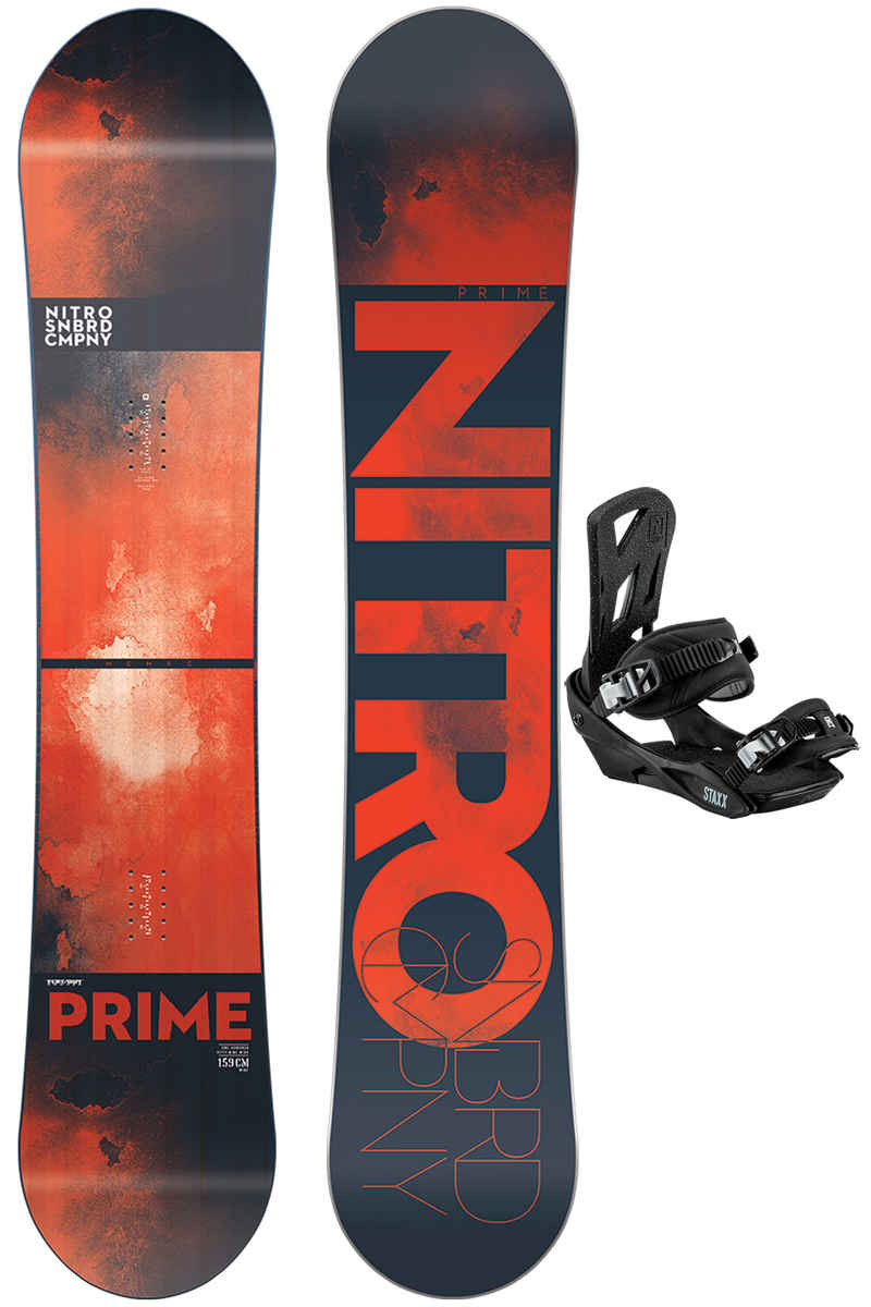 Nitro Prime 159cm Wide / Staxx L 2017/18Set da snowboard