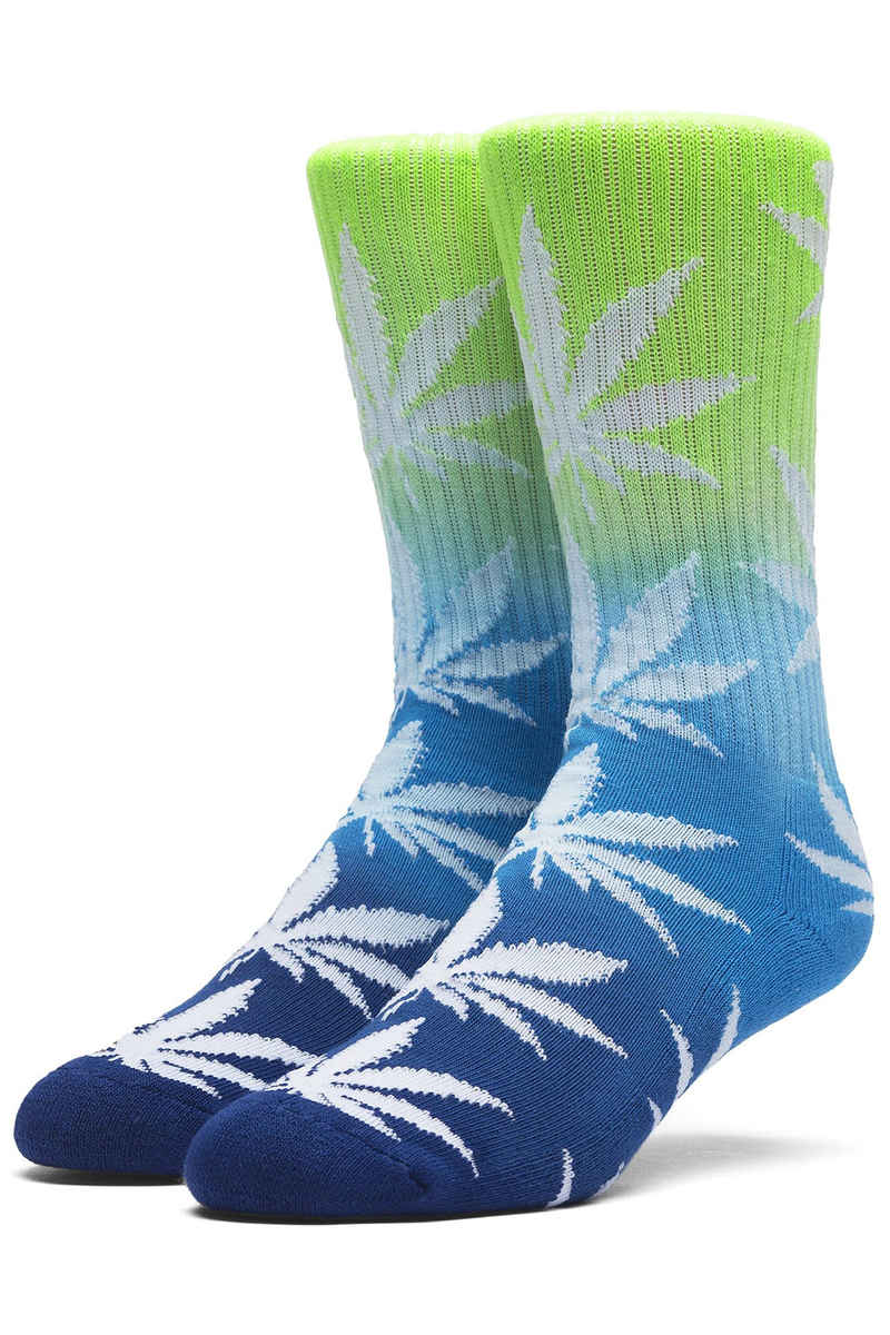 HUF Tri-Fade Plantlife Chaussettes US 8-12 (neon blue navy)
