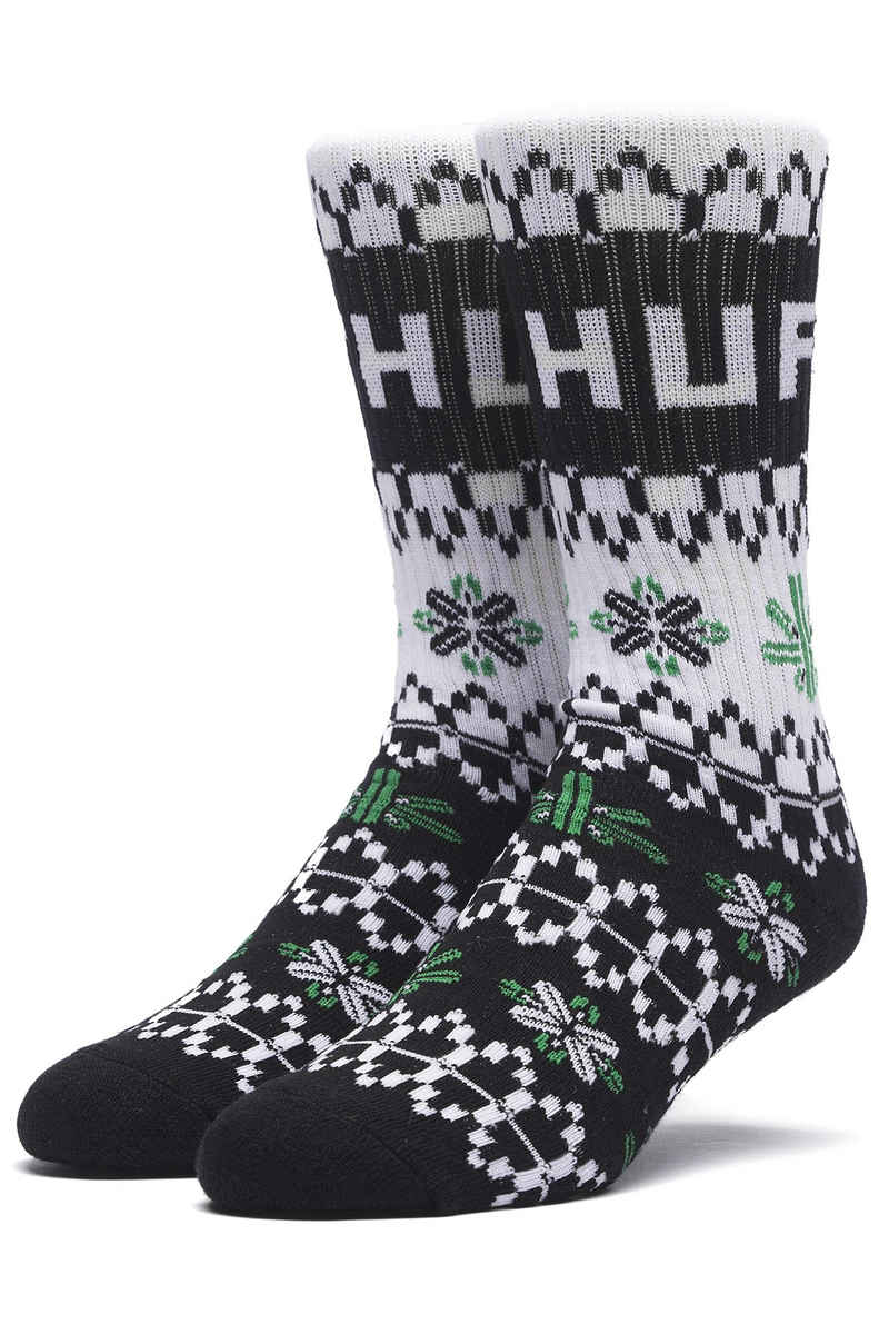 HUF Holiday Chaussettes US 8-12 (black)