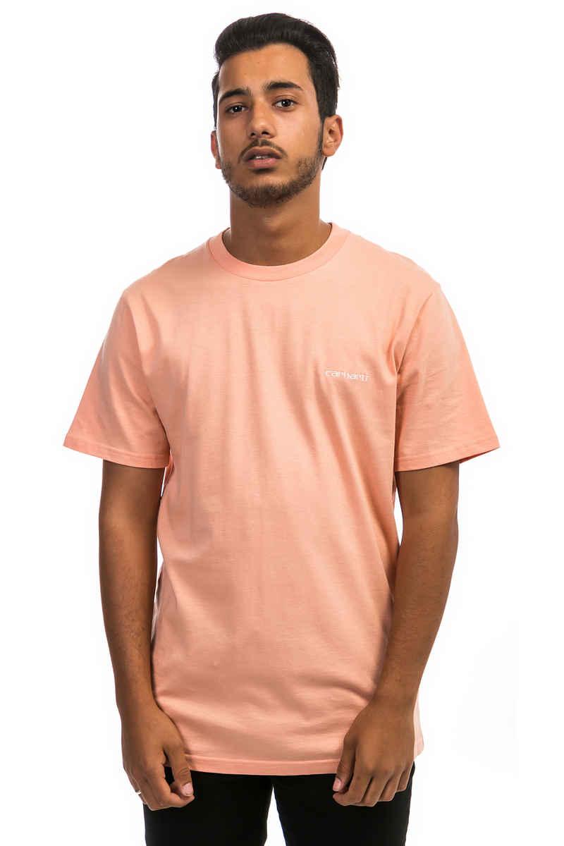 Carhartt WIP Script Embroidery T-Shirt (peach off white)