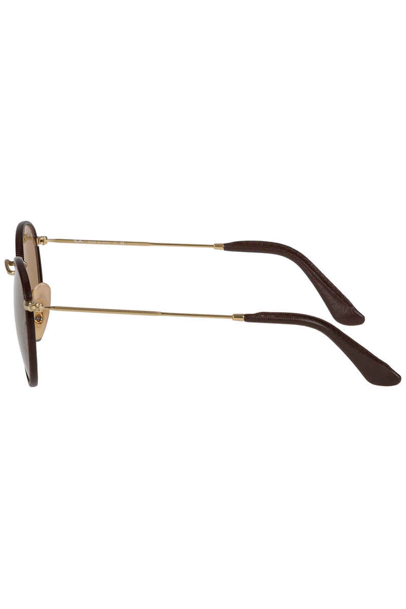 Ray-Ban Round Craft Sonnenbrille 50mm (matte arista brown leather)