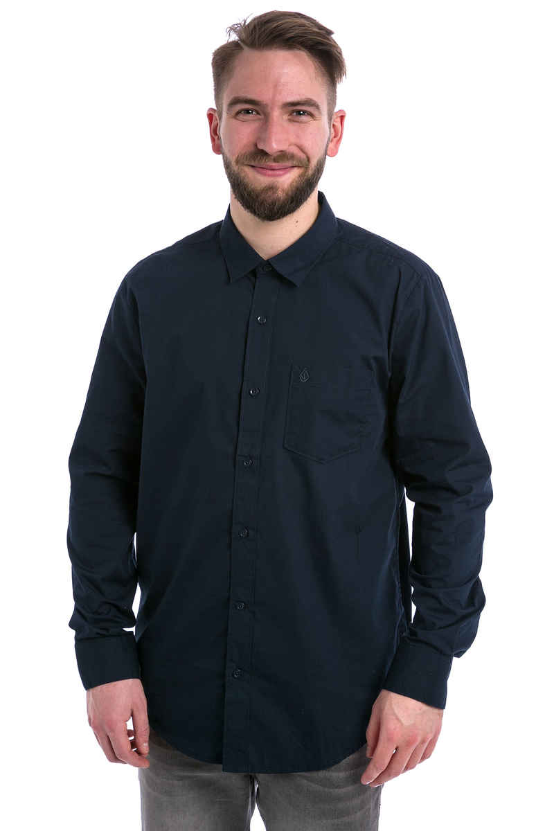 Volcom Everett Solid Shirt (dark navy)
