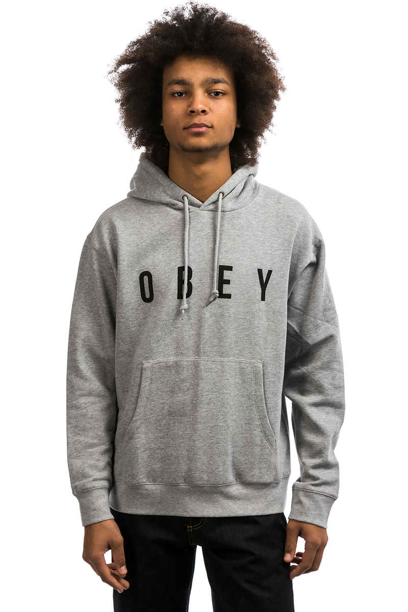 Obey Anyway sweat à capuche (heather grey)