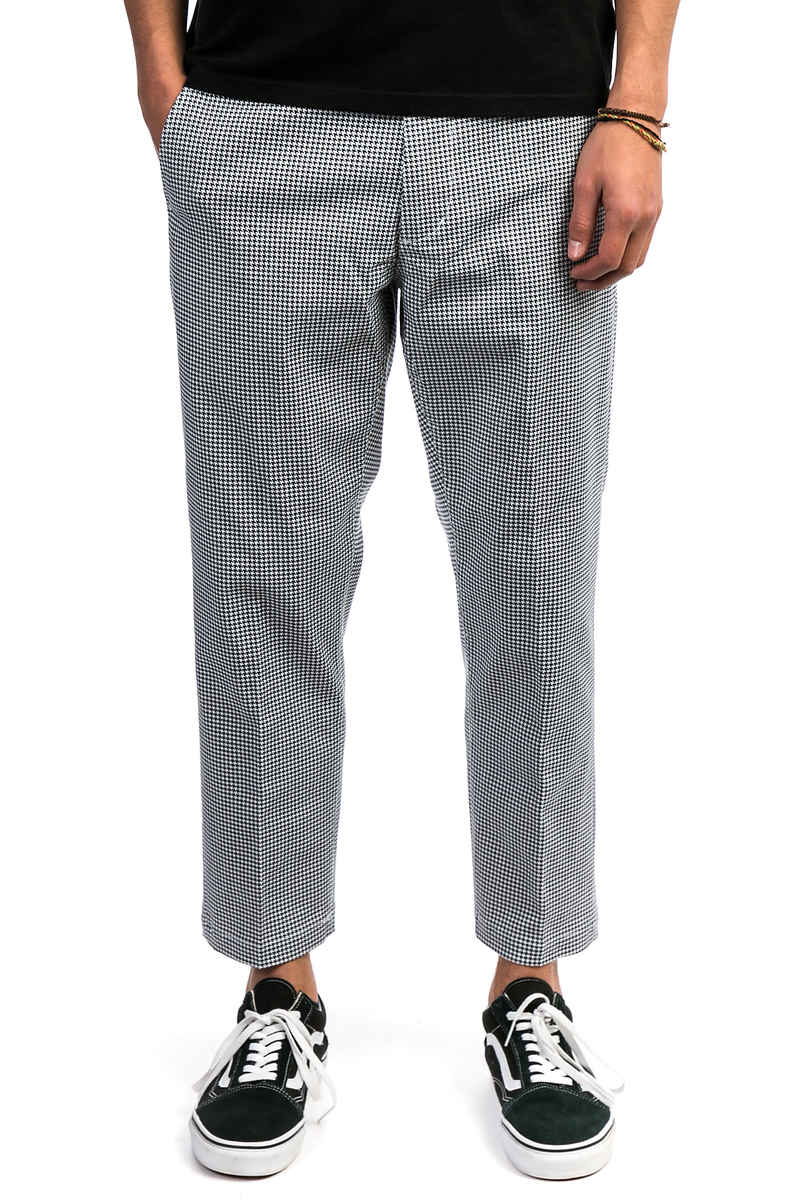 Obey Straggler Houndstooth Pantalons (white multi)