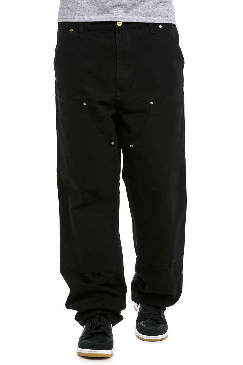 Carhartt WIP Double Knee Pant Turner Hose (black rinsed)