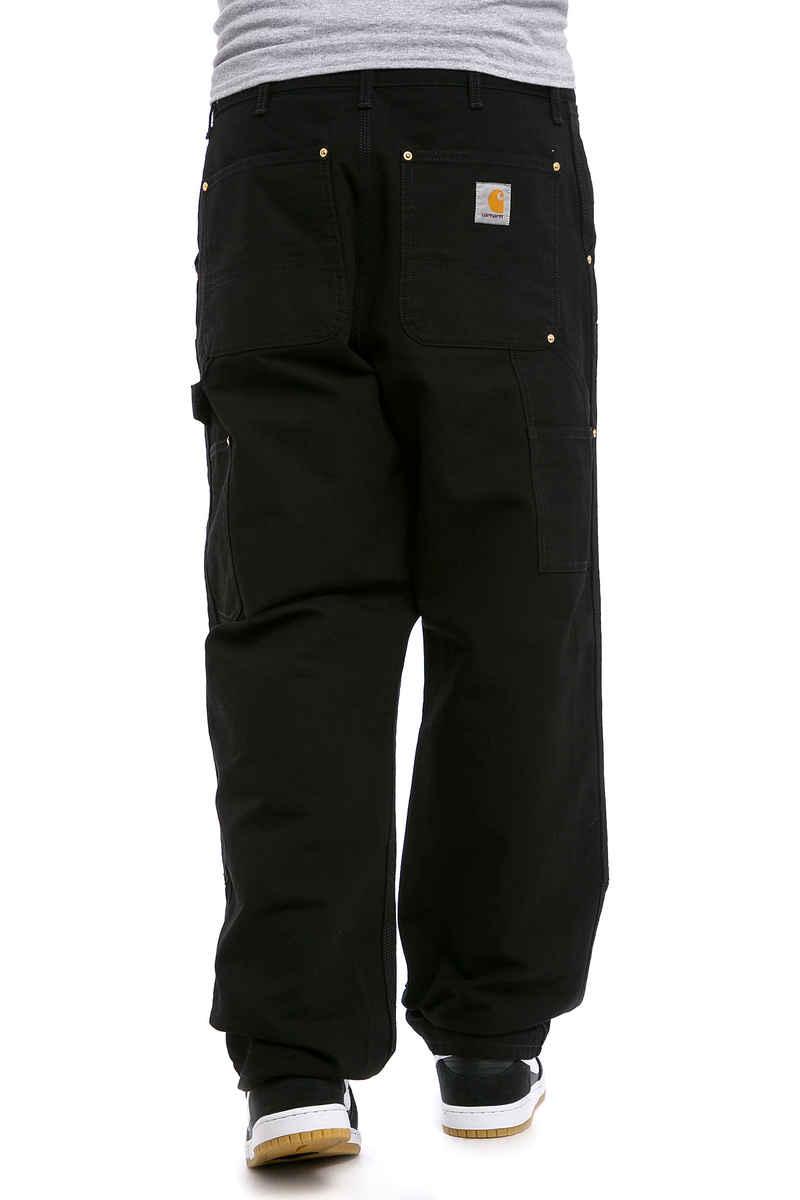 Carhartt WIP Double Knee Pant Turner Hose (black rinsed)