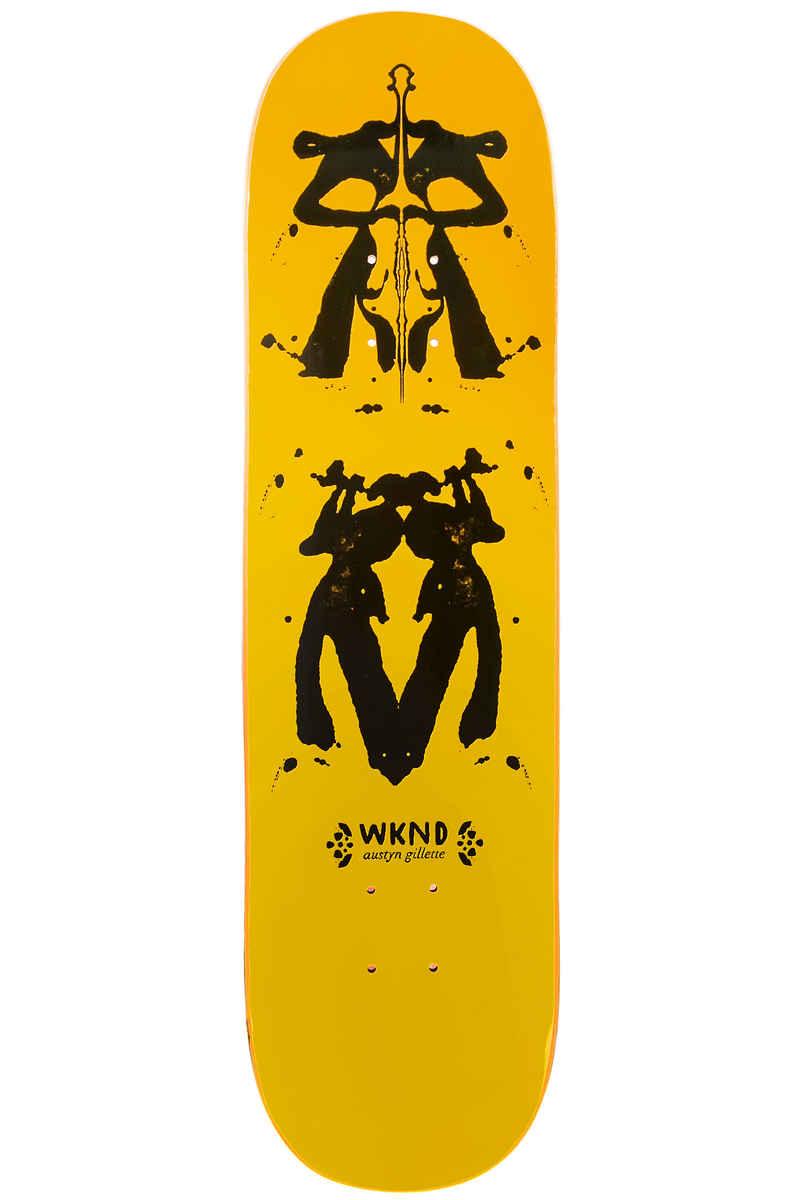 """WKND Gillette Rorschach 8.25"""" Deck (yellow)"""