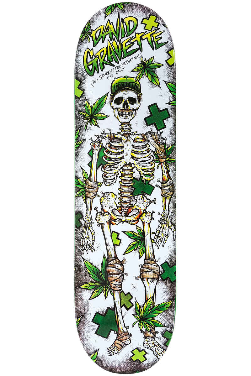 "Creature Gravette Medicinal Use 8.5"" Deck (white green)"