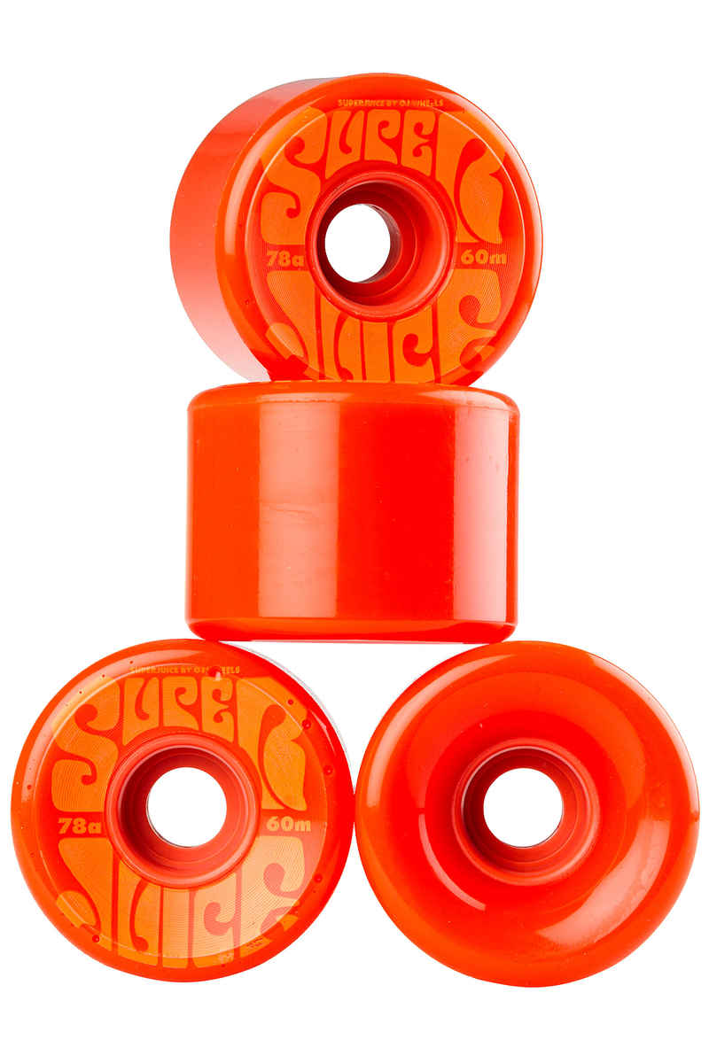 OJ Wheels Super Juice Rollen (orange) 60mm 4er Pack 78A
