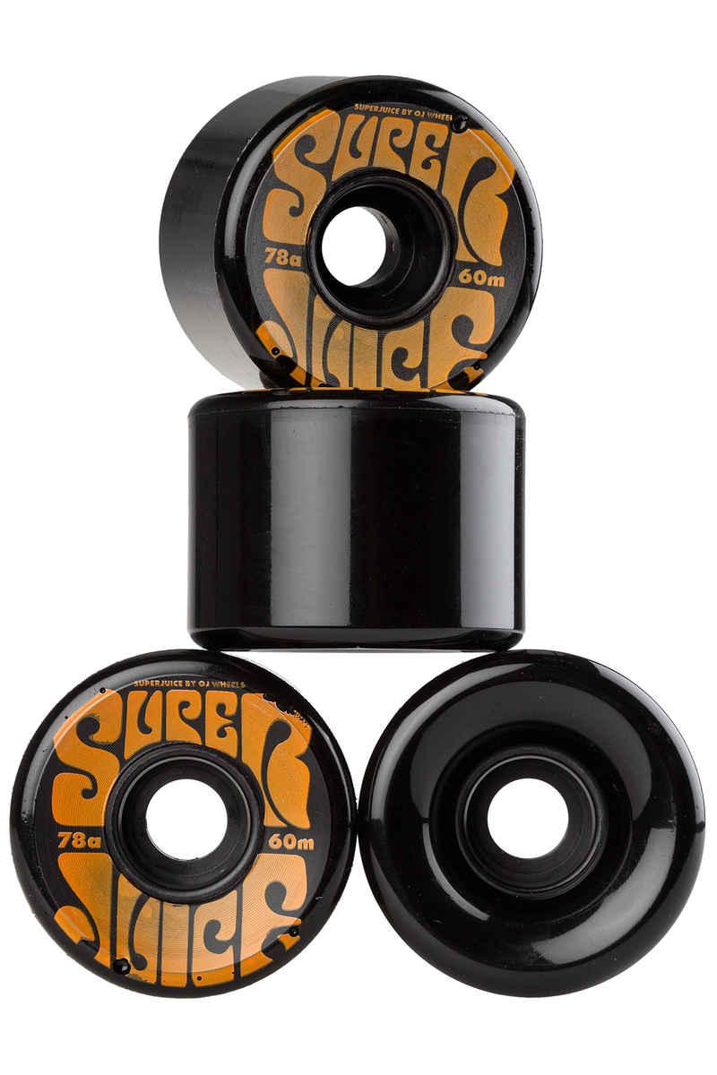 OJ Wheels Super Juice Rollen (black) 60mm 4er Pack 78A