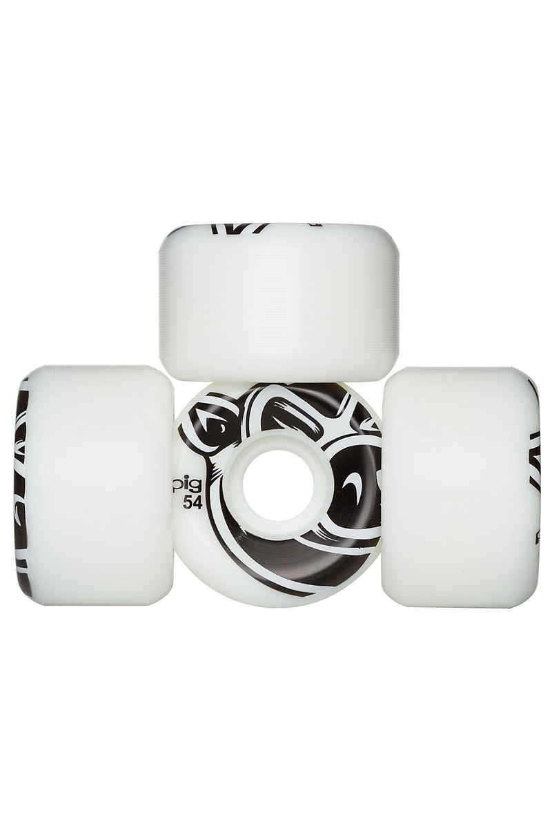 Pig 3D Conical 54mm Rollen (white) 4er Pack