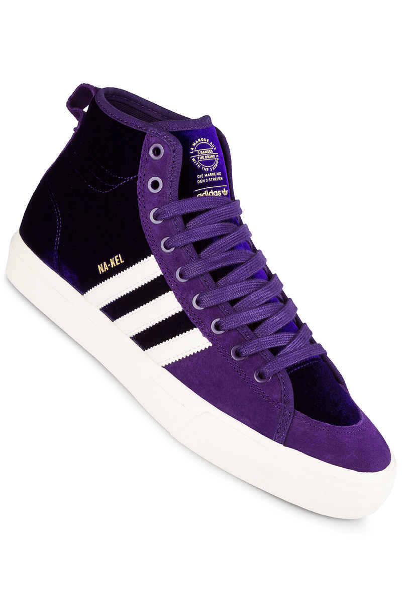 adidas Skateboarding Na-Kel Matchcourt High RX Shoes (purple white gold)