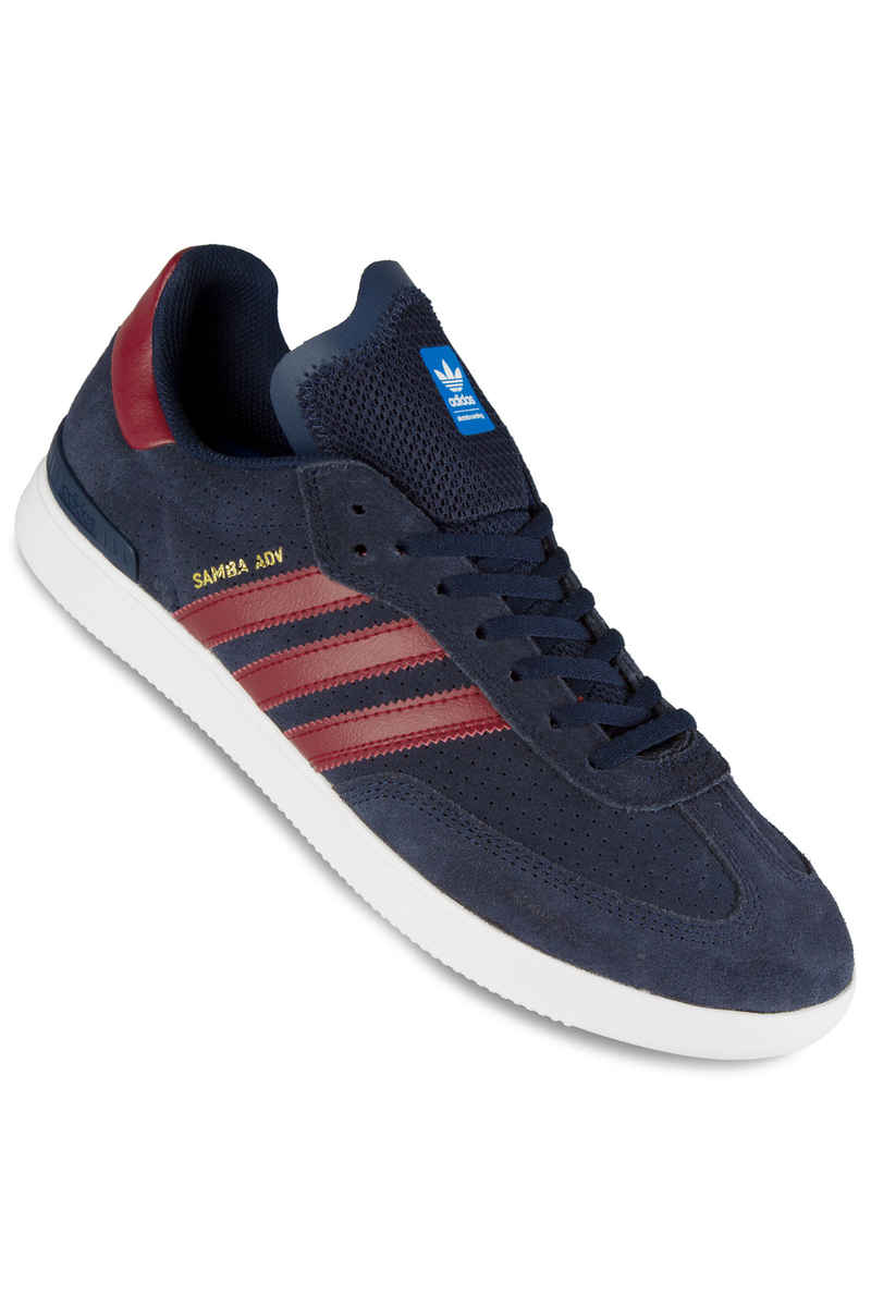 adidas Skateboarding Samba ADV Shoes (navy core burgundy white)