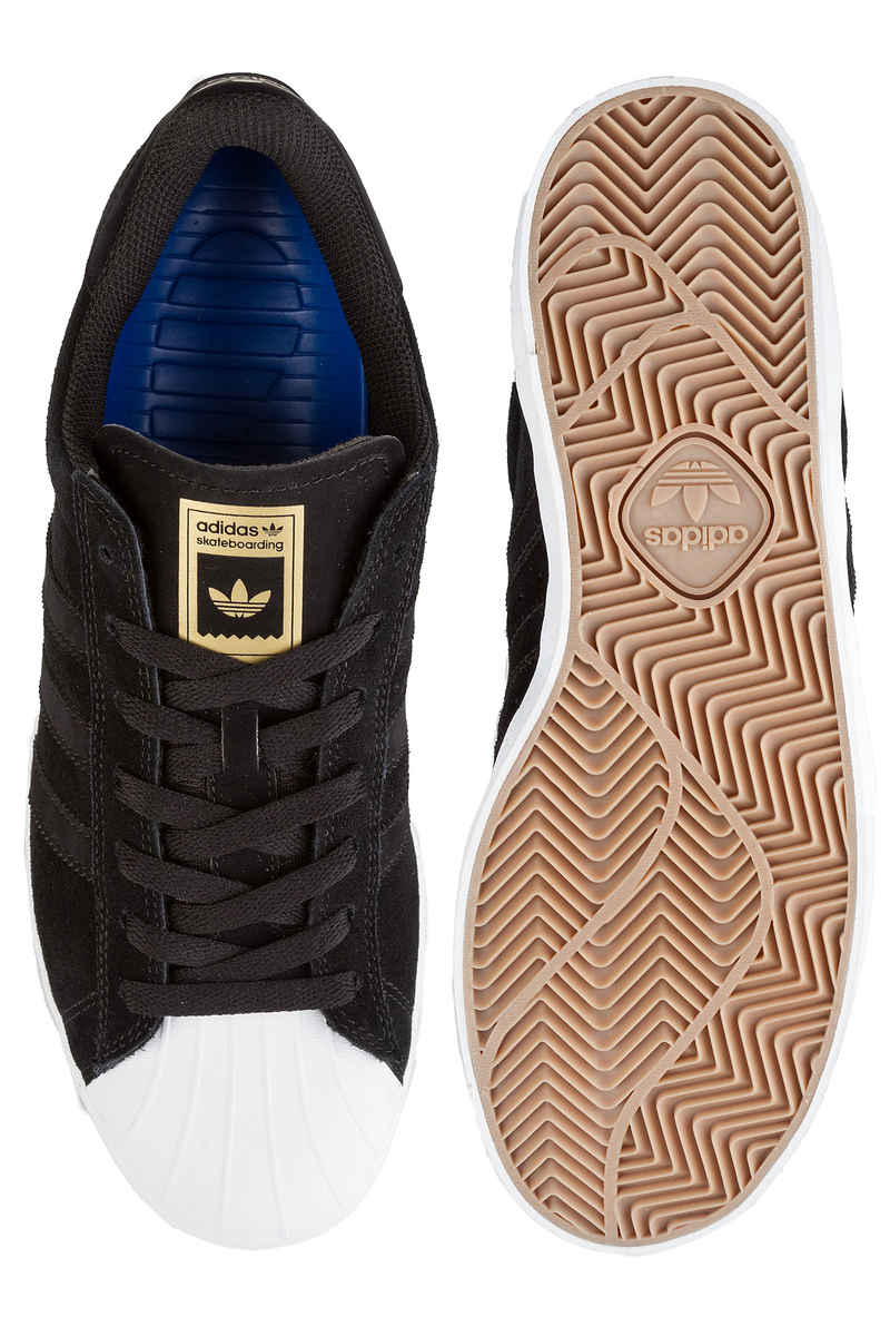 adidas Superstar Vulc ADV Schuh (core black white gold)
