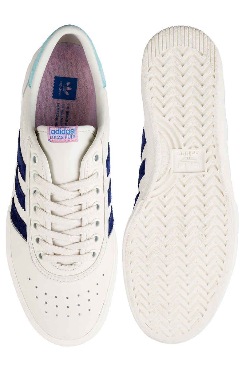 adidas x Hélas Lucas Premiere Chaussure (white blue aqua)