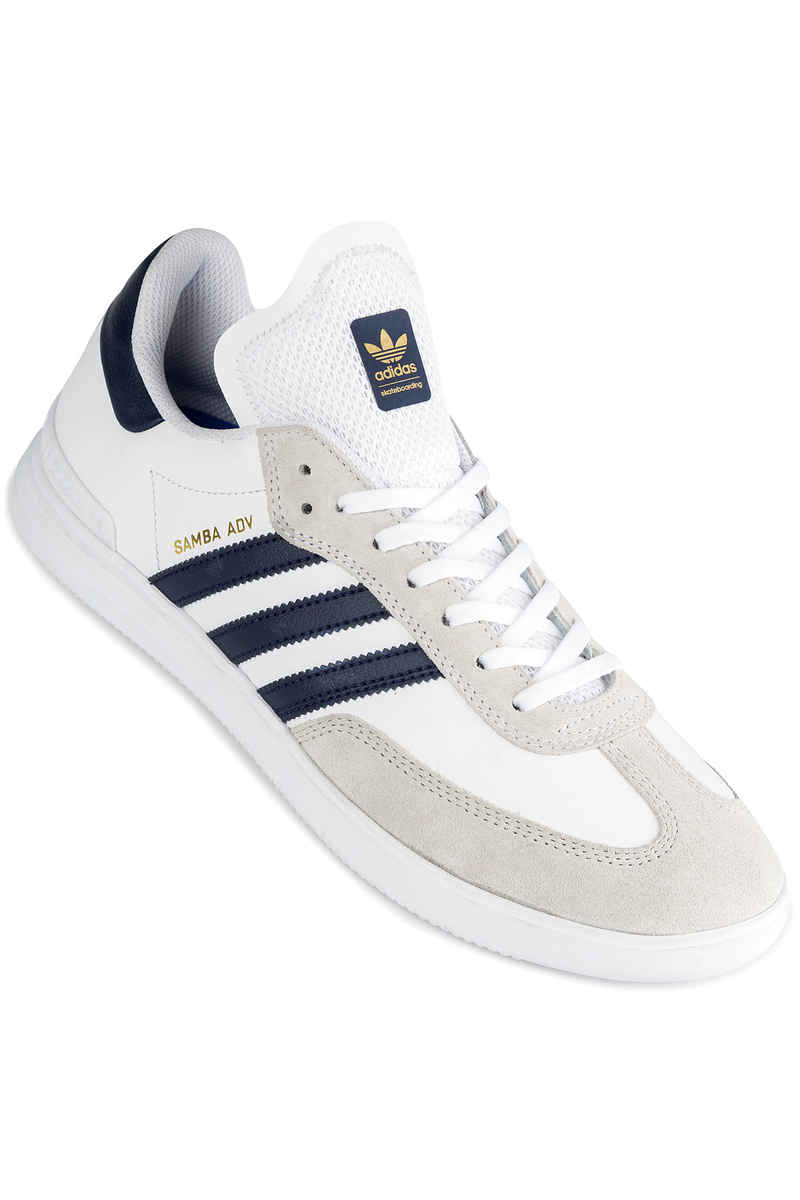 adidas Skateboarding Samba ADV Shoes (white navy gold)