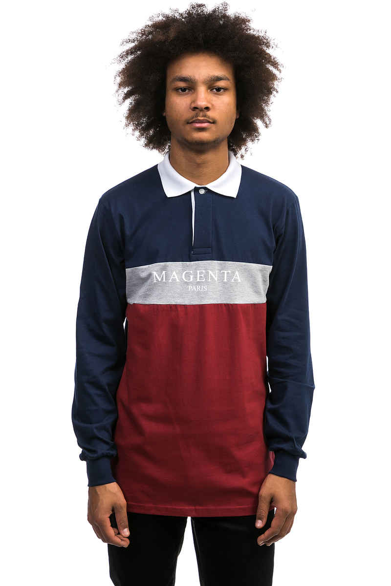 Magenta Paris Polo Longsleeve (multi)