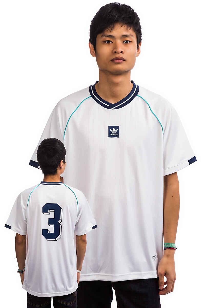 adidas Athleisure Jersey T-Shirt (white noble indigo green)