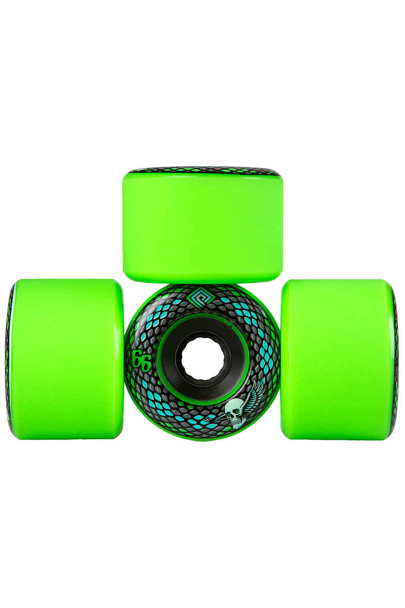 Powell-Peralta Snakes Roue (green) 4 Pack 66mm 75A