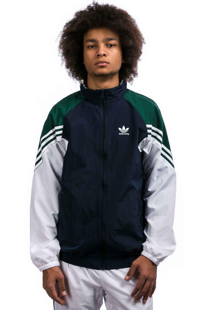 adidas Lightweight Full Zip Tracktop Jacke (night indigo green white)