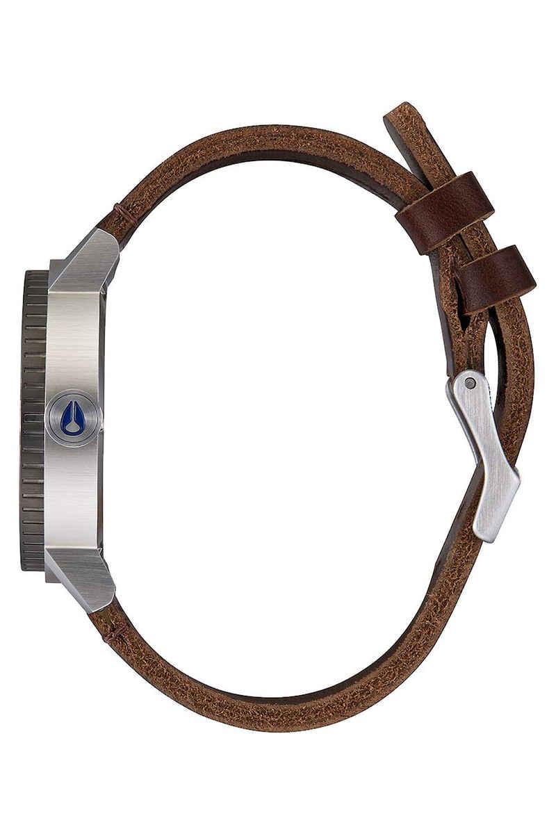 Nixon The Stark Leather Horloge (blue sunray brown)