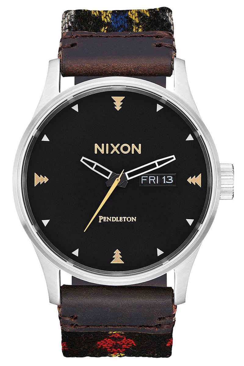 Nixon x Pendleton The Sentry Leather Orologio (midnight eyes)