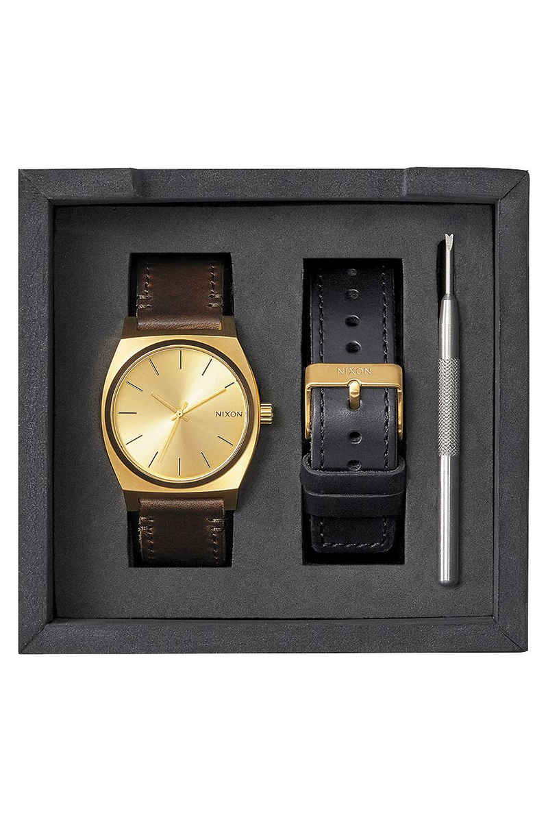 Nixon The Time Teller Pack Watch (all gold black brown)