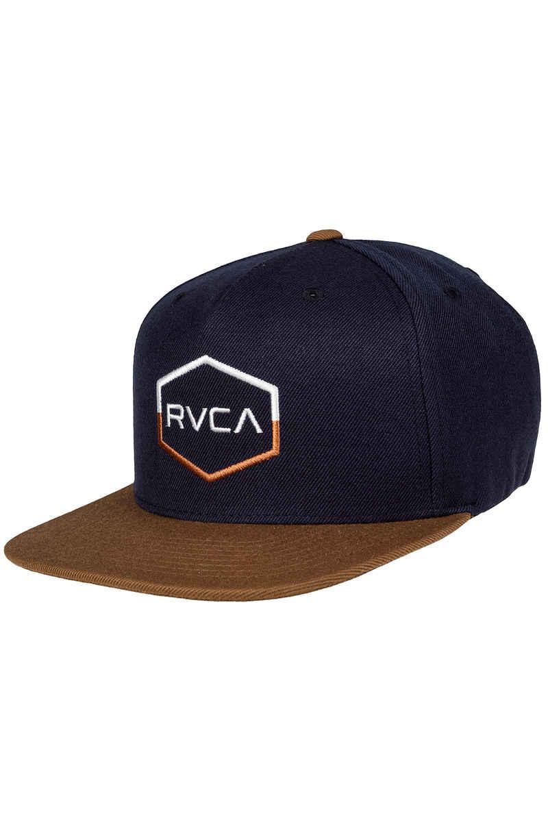 RVCA Commonwealth 3 Snapback Cap (navy)