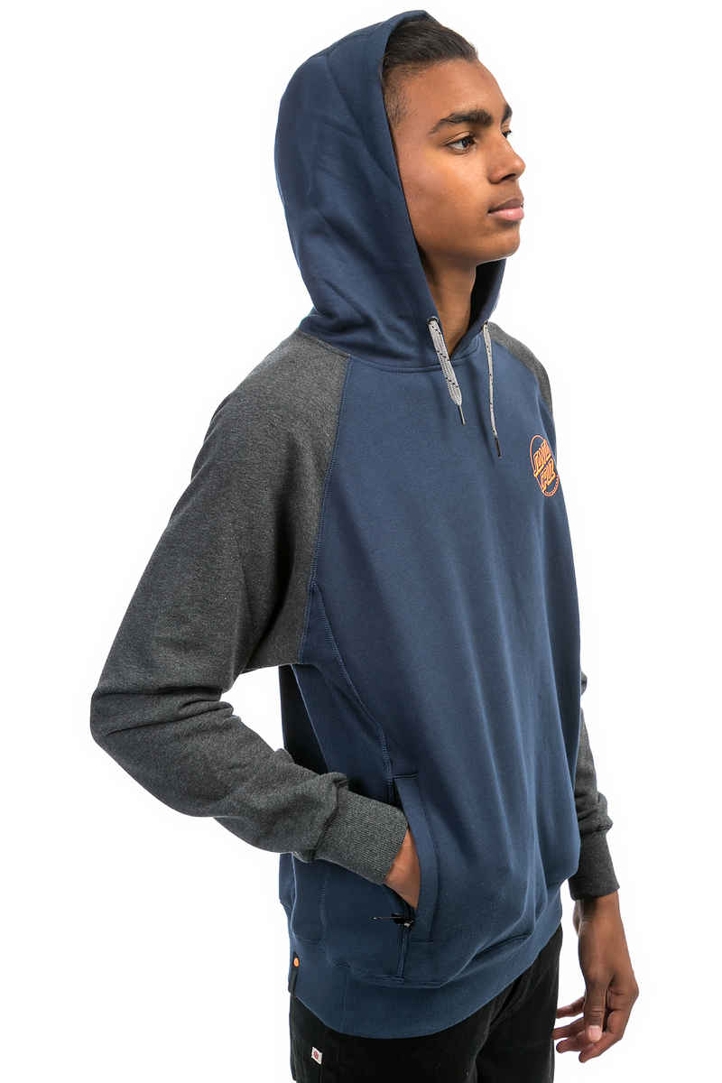 Santa Cruz Simple Dot Hoodie (dark denim carbon melange)