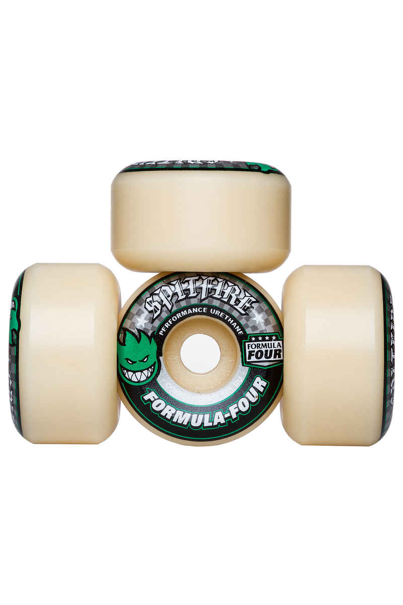 Spitfire Formula Four Conical Wheels (white green) 54mm 101A 4 Pack