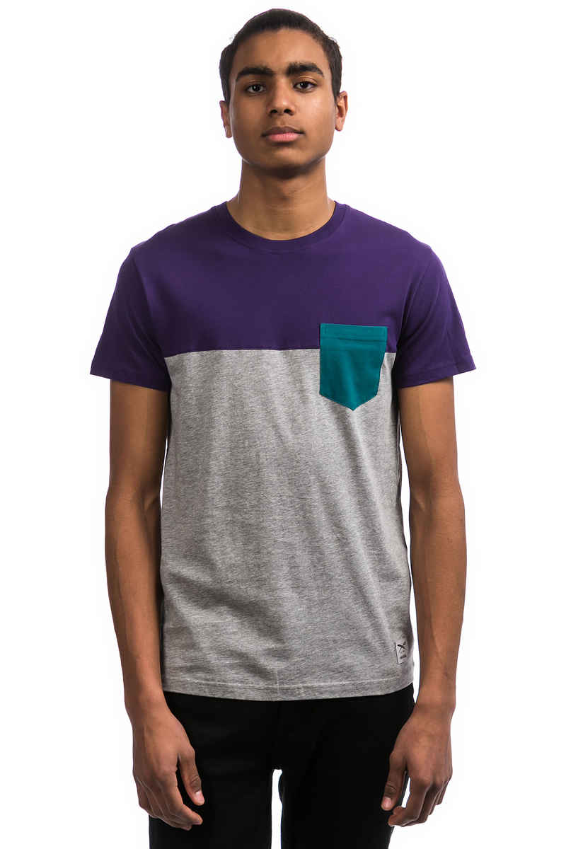Iriedaily Block Pocket 2 T-Shirt (deep purple)