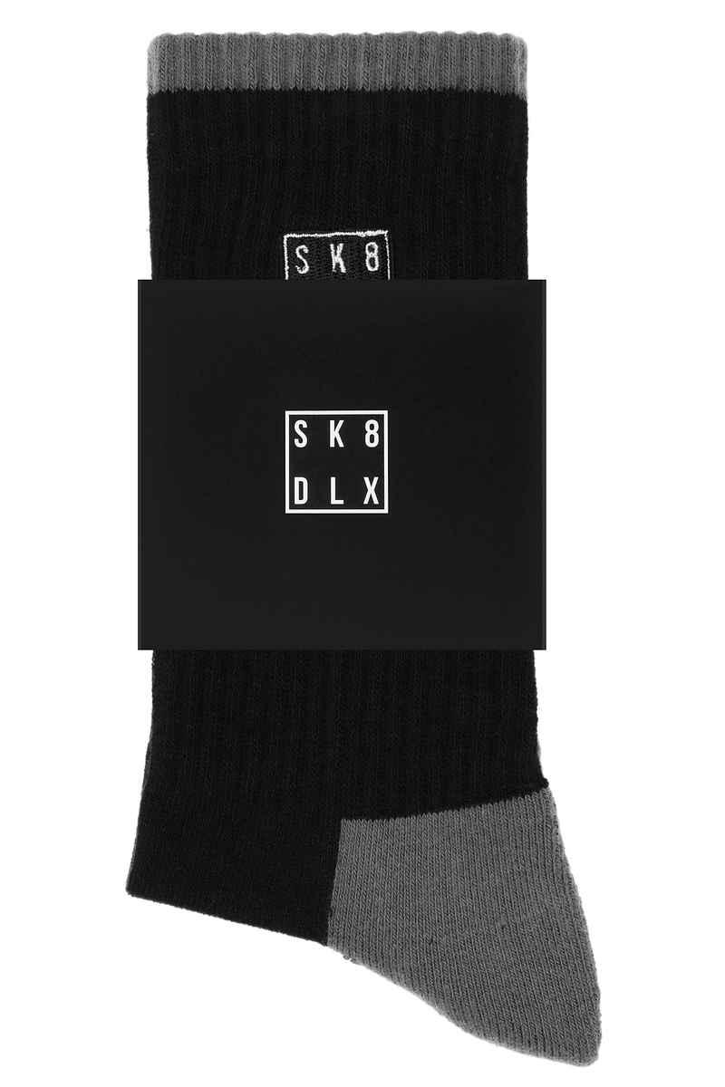 SK8DLX Square Socken US 6-13 (black)