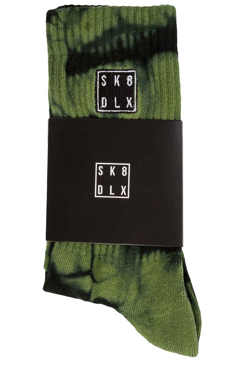SK8DLX Hartik Socks US 9-13 (green tie dye)