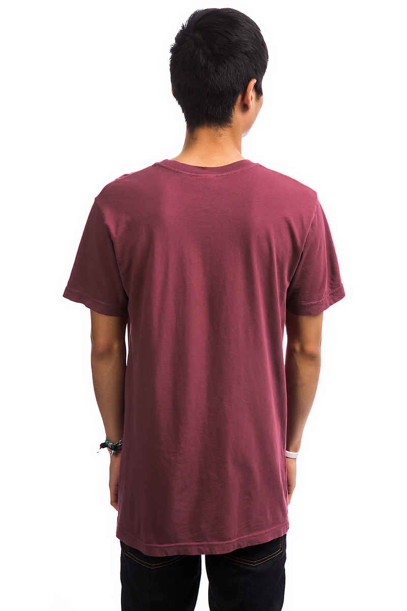 RIPNDIP Lord Nermal Pocket T-Shirt (burgundy mineral wash)