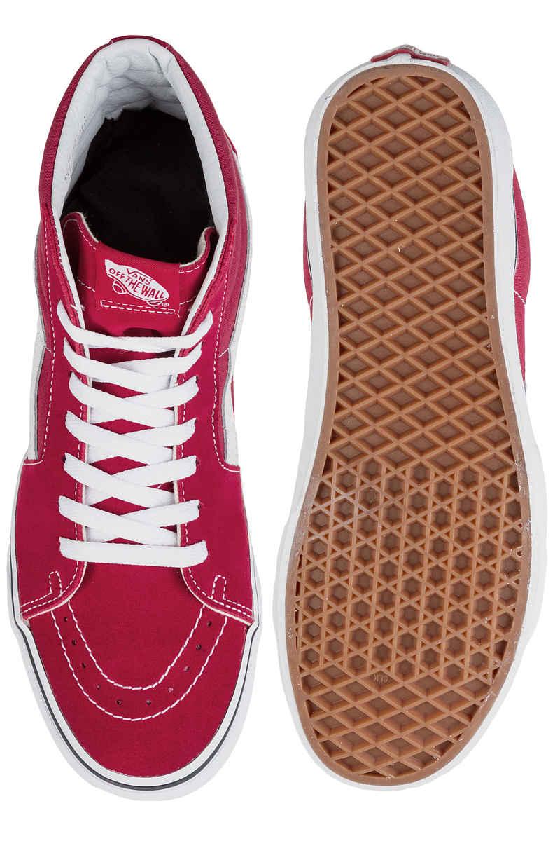 Vans Sk8-Hi Shoes (crimson true white)