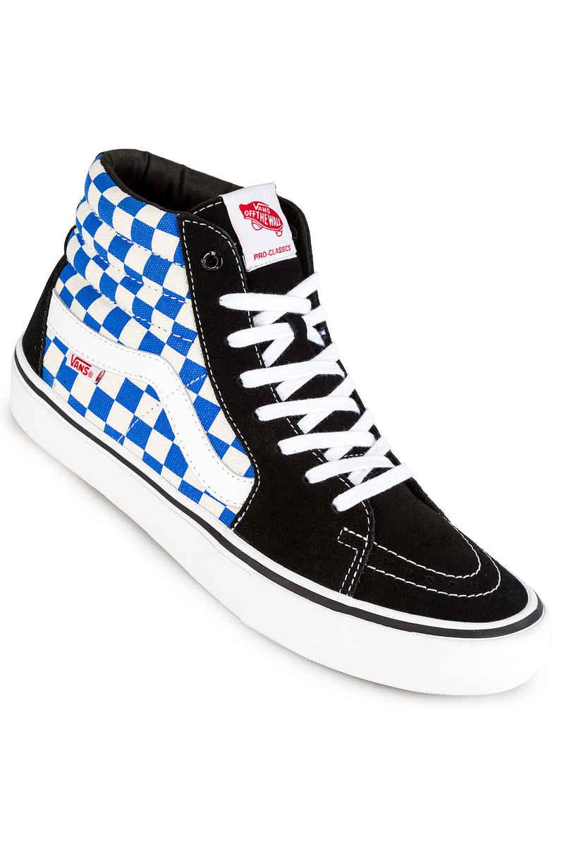 Vans Sk8-Hi Pro Chaussure - checkerboard black victoria blue 5dhvS