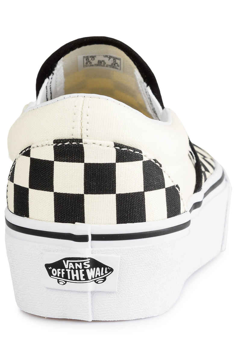 Vans Classic Slip-On Plateau Chaussure women (checkerboard white)