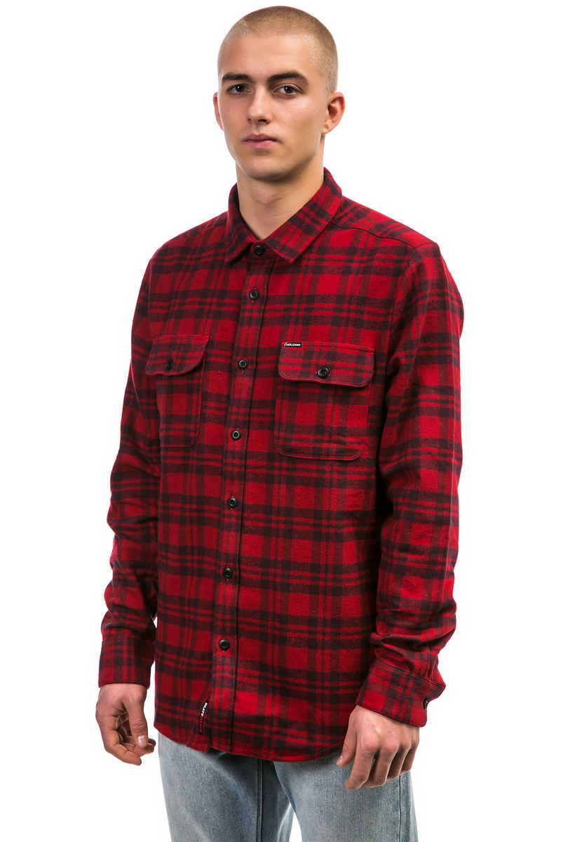 SK8DLX x Volcom Flannel Camisa (chili red)
