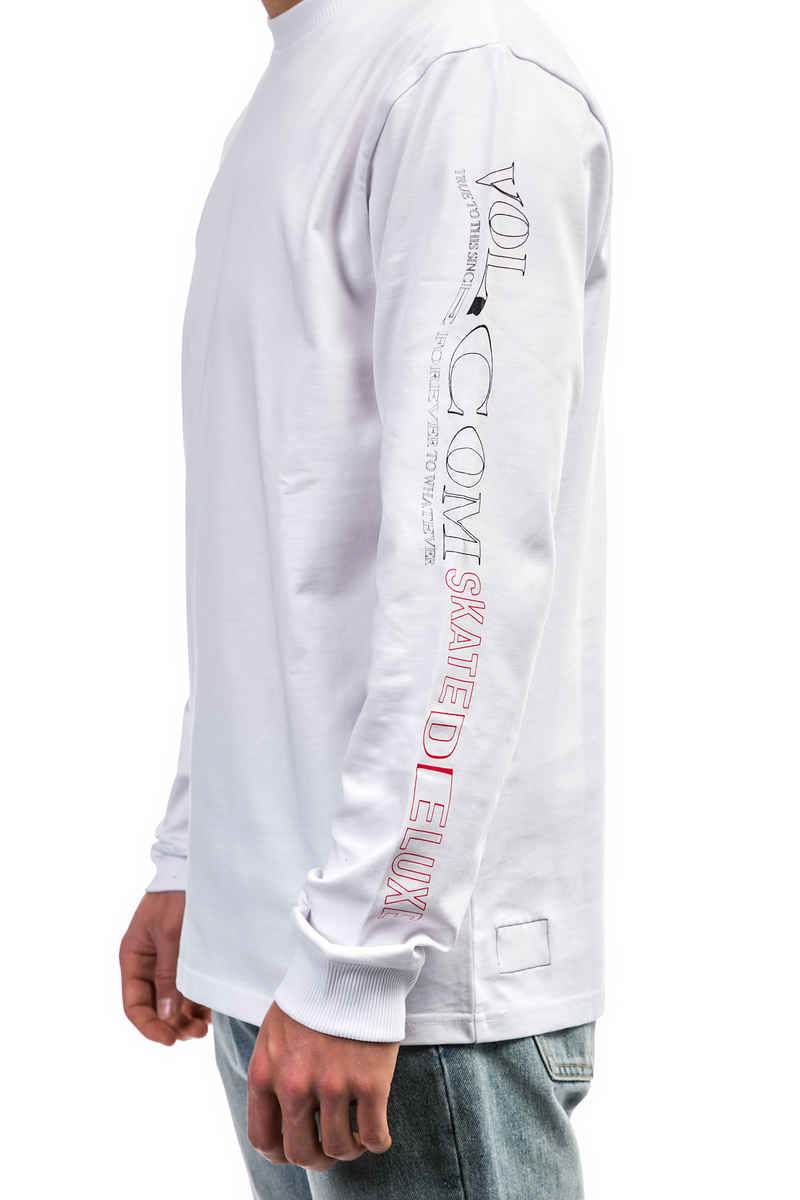 SK8DLX x Volcom Knife Longsleeve (white)