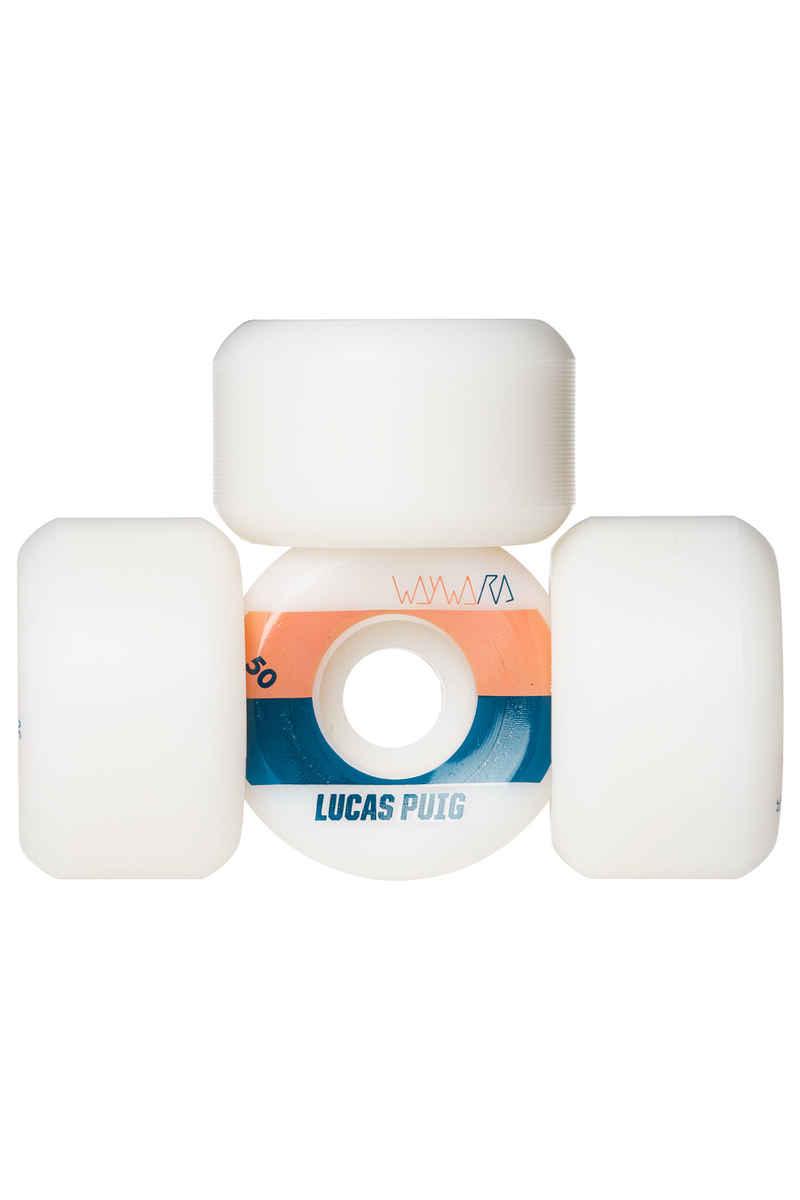 Wayward Puig Tone2 Rueda (white orange) 50mm 99A Pack de 4