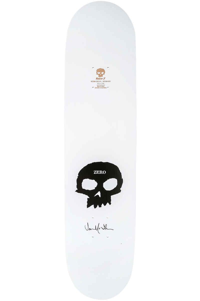 "Zero Thomas Signature Skull 8"" Deck (white black)"