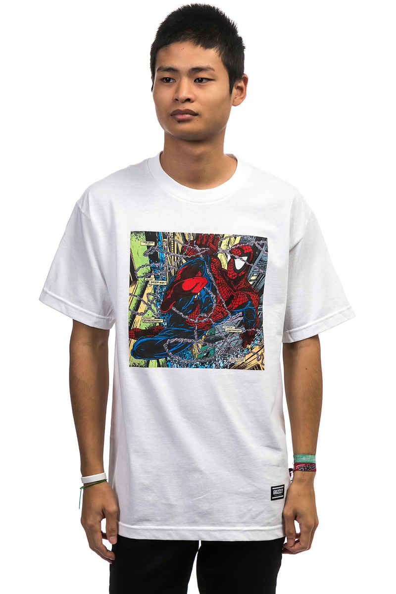 Grizzly x Spiderman Aerial T-Shirt (white)