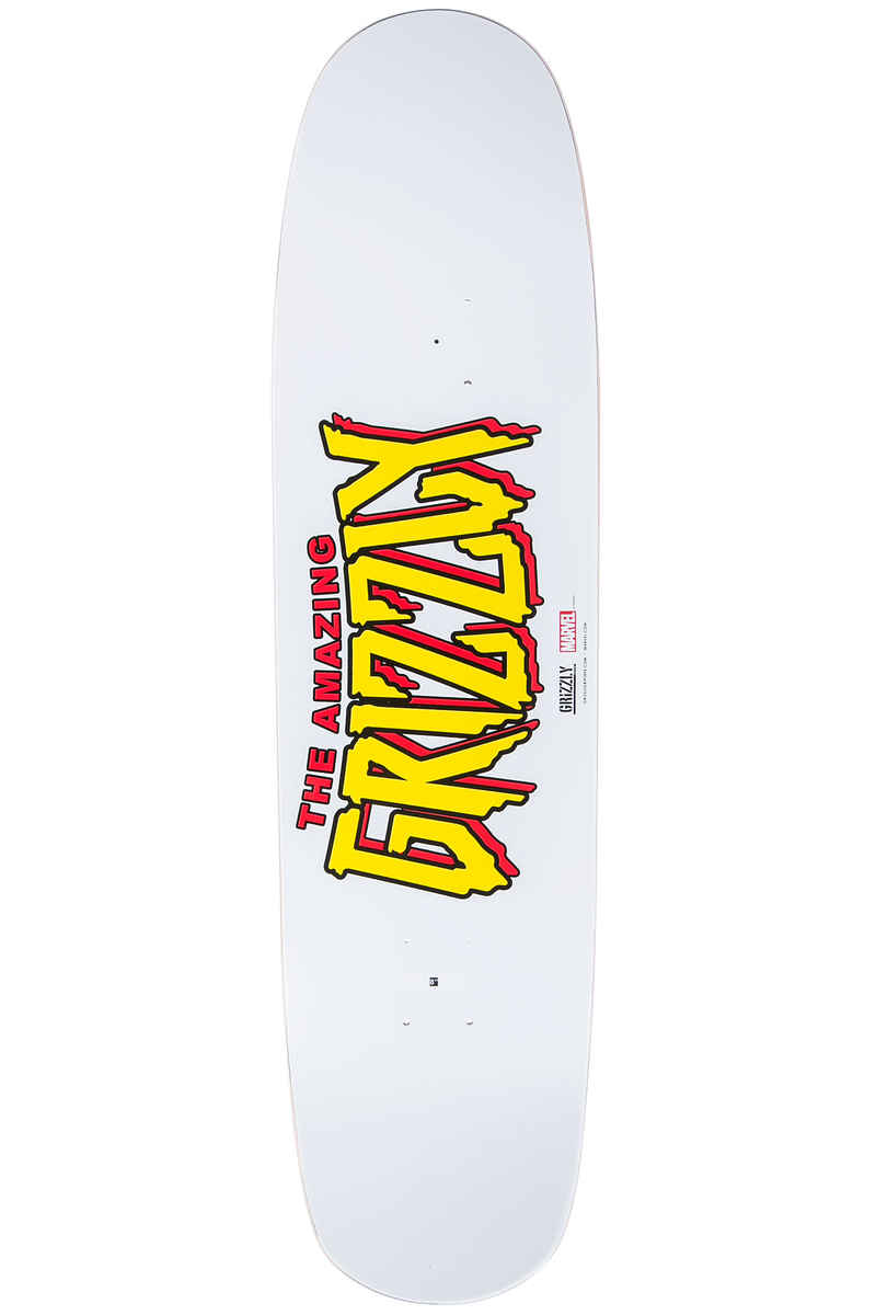 """Grizzly x Spiderman Ink 8"""" Deck (white)"""