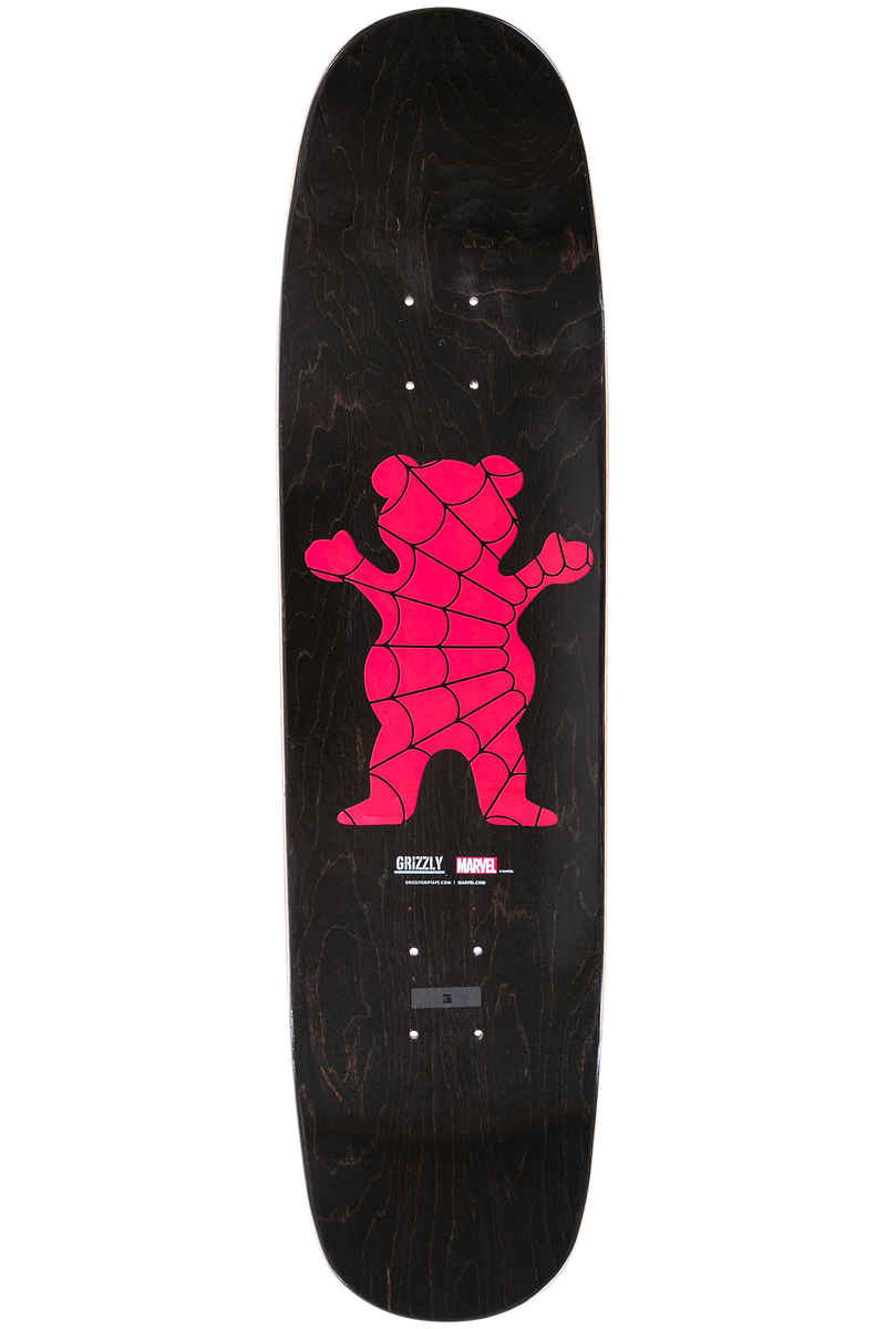 "Grizzly x Spiderman 8"" Deck (red)"