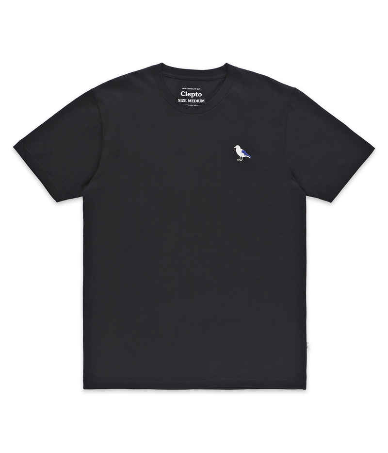 Cleptomanicx Embro Gull T-Shirt (black)