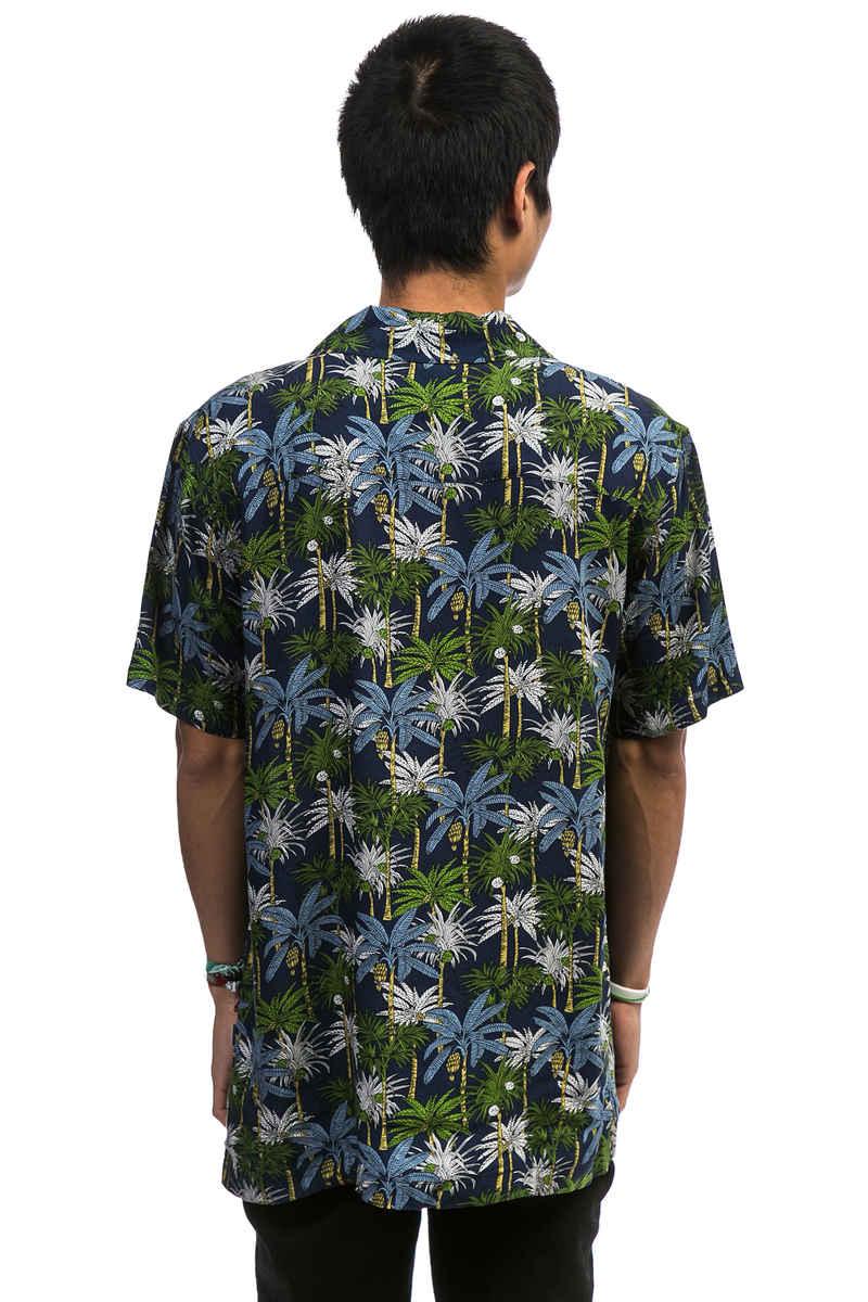 Cleptomanicx Resort Shirt-kortemouwen (dark navy)