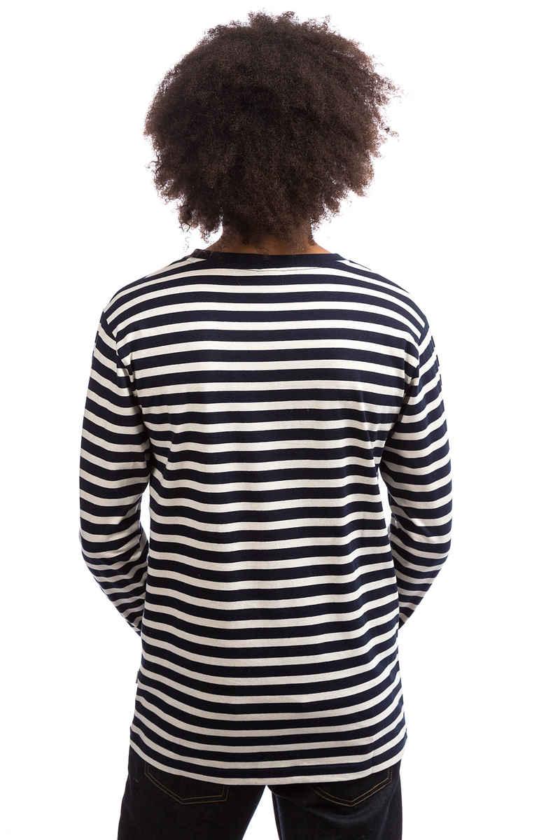 Cleptomanicx Classic Stripe 2 Longsleeve (dark navy)