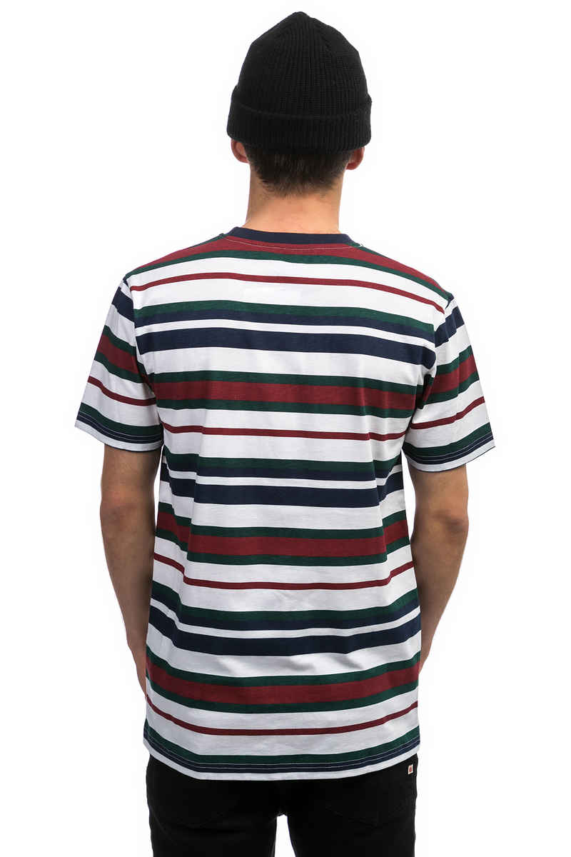 Cleptomanicx Multi Stripe 2 T-Shirt (dark navy)