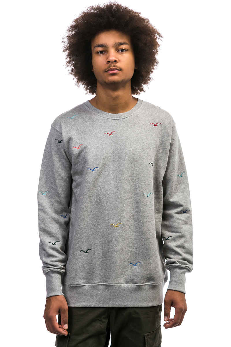 Cleptomanicx Seagull Sweatshirt (heather grey)